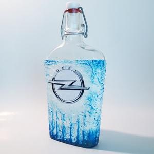 OPEL italos üveg OPEL rajongói ajándék gravírozható saját fotós pálinkás üveg szülinapra névnapra, karácsonyra, húsvétra - Meska.hu