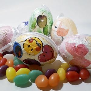 Meglepetés tojások, húsvéti tojások, locsoló ajándék, húsvéti ajándék, húsvétra, névnapra, szülinapra, gyermeknapra., Otthon & Lakás, Dekoráció, Függődísz, Decoupage, transzfer és szalvétatechnika, Meglepetés tojások, húsvéti tojások, locsoló ajándék, húsvéti ajándék, húsvétra, névnapra, szülinapr..., Meska