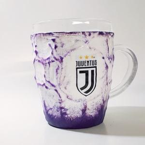 Juventus lila foci rajongói sörös korsó, futball rajongói ajándék, egyedi ajándék szülinapra, névnapra, karácsonyra., Otthon & Lakás, Konyhafelszerelés, Pohár, Decoupage, transzfer és szalvétatechnika, Juventus lila foci rajongói sörös korsó, futball rajongói ajándék, egyedi ajándék szülinapra, névnap..., Meska