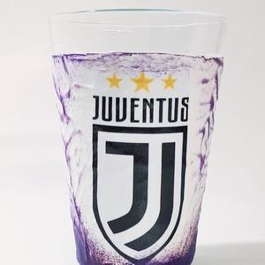 Juventus foci rajongói pohár, üdítős pohár, futball szurkolói ajándék szülinapra, névnapra, karácsonyra., Otthon & Lakás, Konyhafelszerelés, Pohár, Decoupage, transzfer és szalvétatechnika, Juventus foci rajongói pohár, üdítős pohár, futball szurkolói ajándék szülinapra, névnapra, karácson..., Meska