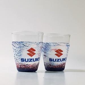 SUZUKI pálinkás pohár, röviditalos pohárszet autó rajongói ajándék, snapszos pohár születésnapra, névnapra, karácsonyra., Otthon & Lakás, Konyhafelszerelés, Pohár, Decoupage, transzfer és szalvétatechnika, Meska