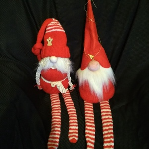 Karácsonyi manó, Manó, Plüssállat & Játékfigura, Játék & Gyerek, Kötés, Ajándék kicsinek, nagynak, idősnek, fiatalnak. Az ünnepi dekorációnak is hasznos kelléke.\nRuhája kéz..., Meska