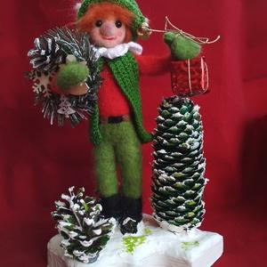 Karácsonyi manó (Bigyolgi) - Meska.hu