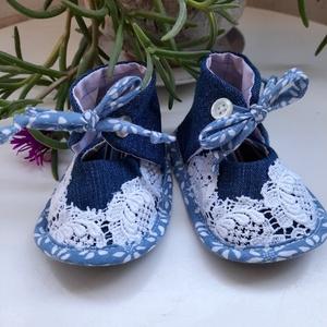 Baby cipő Anita, Gyerek & játék, Baba-mama kellék, Talp 12cm, Meska