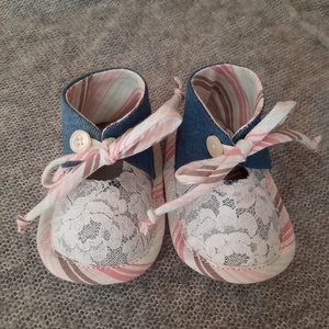 Baby cipő Adria, Gyerek & játék, Baba-mama kellék, Varrás, Újrahasznosított alapanyagból készült termékek, Talp 12cm, Meska