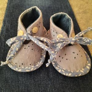 Baby cipő Ági, Gyerek & játék, Baba-mama kellék, Varrás, Újrahasznosított alapanyagból készült termékek, Talp 12 cm, Meska