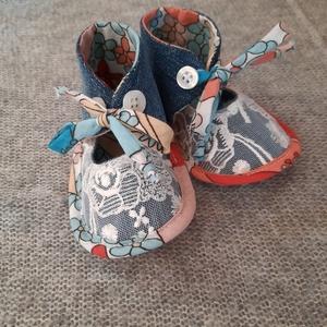 Baby cipő csipke, Gyerek & játék, Baba-mama kellék, Varrás, Újrahasznosított alapanyagból készült termékek, Talp 12cm, Meska