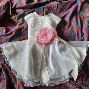 Ruhácska Anikó, Gyerek & játék, Baba-mama kellék, alkalmi keresztelő ajándék egyedi Menyasszonyiruha szalonomból maradt anyag, Meska