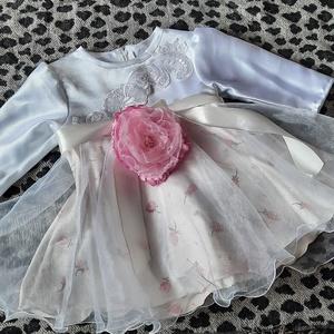 Alkalmi ruhácska Aranka, Gyerek & játék, Baba-mama kellék, egyedi alkalmi szülinapi ajándèk menyasszonyiruha szalonomból maradt anyagból kèszült, Meska