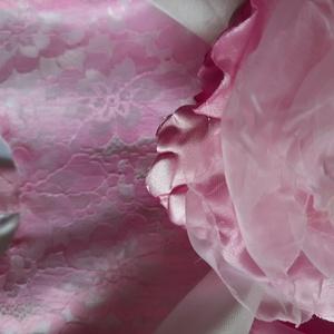 Rózsaszín csipke ruhácska Barbara (Birodalom) - Meska.hu