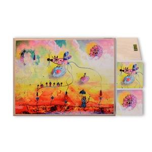 Felhőmese, Kép & Falikép, Dekoráció, Otthon & Lakás, Fotó, grafika, rajz, illusztráció, Nyomat fatáblán, akasztóval (15x20 cm méretben), Meska