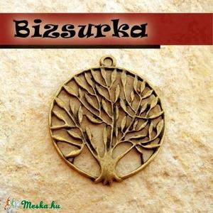 Antik bronz fa medál, charm, Gyöngy, ékszerkellék, Ékszerkészítés, Gyönyörű, antik bronz fa charm. Méret: 37 x 42 mm.  Akár egy nyakláncra akár egy bőrszálra fűzve má..., Alkotók boltja