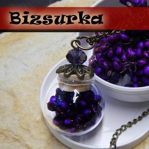 Üveg gömb + gyöngyös kupak, Gyöngy, ékszerkellék, Ékszerkészítés, Nagy gömb üveg medál készítő csomag  Tartalma: - 20mm gömb üveg - 1db gyönggyel díszített parafadug..., Alkotók boltja