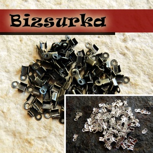bőrvég (40db) / 2 színben, Gyöngy, ékszerkellék, Ékszerkészítés, Bőrművesség, Bőrvégzáró. \n2mm-s bőrhöz\n\nMérete: 6x3mm.\nLyukméret:0,5mm.\n\n- Antik bronz\n- Ezüst színű\n\nAz ár 1 cso..., Meska