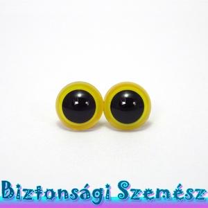 KIÁRUSÍTÁS 12 mm-es biztonsági szem citromsárga 2 db (1 pár), Gomb, Műanyag gomb, Szépen csillogó felületű, szemet gyönyörködtető biztonsági szemek mosás- és gyerekbiztos hátsó réssz..., Meska
