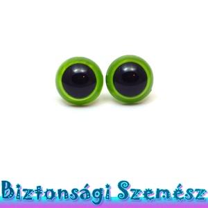 KIÁRUSÍTÁS 12 mm-es biztonsági szem fűzöld 2 db (1 pár), Gomb, Szépen csillogó felületű, szemet gyönyörködtető biztonsági szemek mosás- és gyerekbiztos hátsó réssz..., Meska