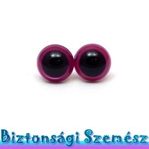 KIÁRUSÍTÁS 12 mm-es biztonsági szem ciklámen 2 db (1 pár), Gomb, Szépen csillogó felületű, szemet gyönyörködtető biztonsági szemek mosás- és gyerekbiztos hátsó réssz..., Meska