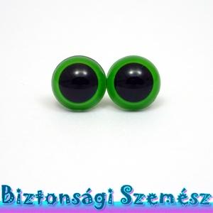 KIÁRUSÍTÁS 12 mm-es biztonsági szem zöld 2 db (1 pár), Gomb, Szépen csillogó felületű, szemet gyönyörködtető biztonsági szemek mosás- és gyerekbiztos hátsó réssz..., Meska