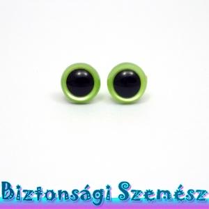 KIÁRUSÍTÁS 9 mm-es biztonsági szem almazöld 2 db (1 pár), Gomb, Szépen csillogó felületű, szemet gyönyörködtető biztonsági szemek mosás- és gyerekbiztos hátsó réssz..., Meska