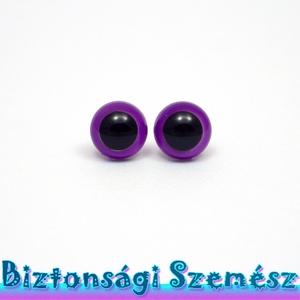 KIÁRUSÍTÁS 9 mm-es biztonsági szem szilva 2 db (1 pár), Gomb, Szépen csillogó felületű, szemet gyönyörködtető biztonsági szemek mosás- és gyerekbiztos hátsó réssz..., Meska