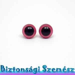 KIÁRUSÍTÁS 9 mm-es biztonsági szem rózsaszín 2 db (1 pár), Gomb, Szépen csillogó felületű, szemet gyönyörködtető biztonsági szemek mosás- és gyerekbiztos hátsó réssz..., Meska