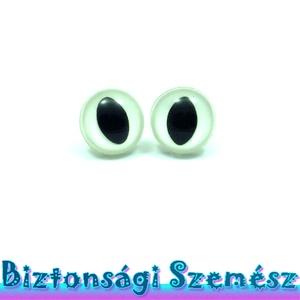 KIÁRUSÍTÁS 12 mm-es biztonsági macskaszem fehér 2 db (1 pár), Gomb, Szépen csillogó felületű, szemet gyönyörködtető biztonsági szemek mosás- és gyerekbiztos hátsó réssz..., Meska