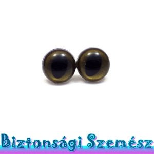 KIÁRUSÍTÁS 12 mm-es biztonsági macskaszem bronz 2 db (1 pár), Gomb, Szépen csillogó felületű, szemet gyönyörködtető biztonsági szemek mosás- és gyerekbiztos hátsó réssz..., Meska