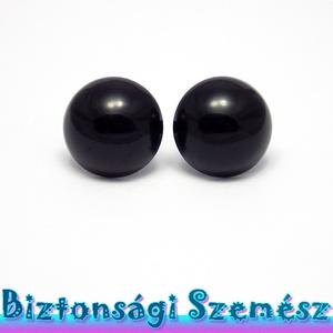 KIÁRUSÍTÁS 22 mm-es biztonsági szem fekete 2 db (1 pár), Gomb, Szépen csillogó felületű, szemet gyönyörködtető biztonsági szemek mosás- és gyerekbiztos hátsó réssz..., Meska