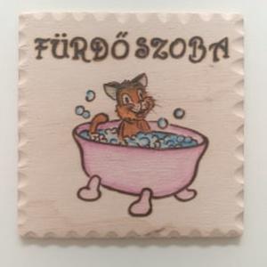 """Ajtójelölő tábla """" Fürdőszoba"""" - Meska.hu"""