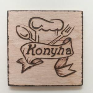 Ajtójelölő tábla    Konyha   , Otthon & Lakás, Táblakép, Dekoráció, Gravírozás, pirográfia, Meska