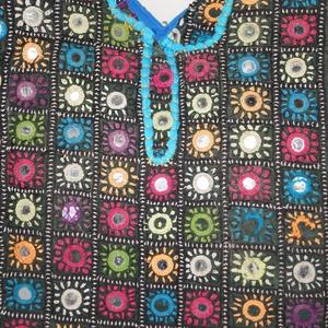Gyönyörű, színes, nagy méretű, kézzel hímzett, patchwork, íves formájú, válltáska 5. (bkrisztina) - Meska.hu