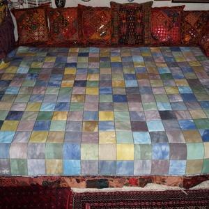 AJÁNDÉKKAL! Színes, nagy méretű, patchwork ágytakaró (bkrisztina) - Meska.hu