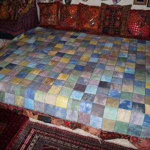 Színes, nagy méretű, patchwork ágytakaró (bkrisztina) - Meska.hu