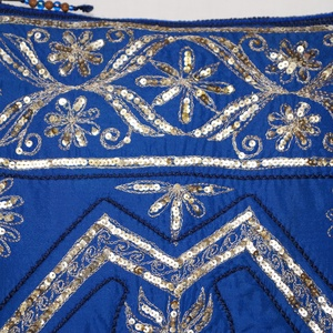 Királykék-arany, indiai esküvő, kézzel hímzett, flitteres válltáska (bkrisztina) - Meska.hu