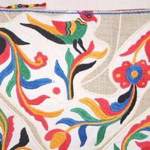 Kézzel hímzett színes, virágos, madaras,Frida nagy méretű válltáska (bkrisztina) - Meska.hu