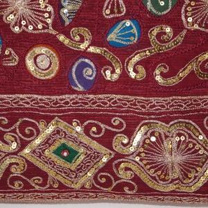 Bordó-arany, színkavalkádos indiai esküvő, kézzel hímzett, flitteres válltáska (bkrisztina) - Meska.hu