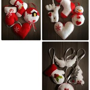 Karácsonyi dísz, Karácsonyfadísz, Karácsony & Mikulás, Otthon & Lakás, Varrás, Karácsonyi díszek! Fel a fára vagy bármire, Mikulásra, ajándékba vagy ajándékkísérőként is megállja ..., Meska