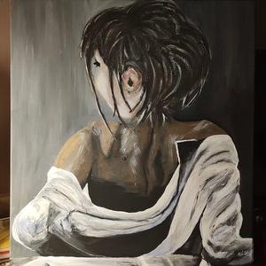 Ébredés, Művészet, Festmény, Akril, Festészet, Fotó, grafika, rajz, illusztráció, Feszített vászonra készült egyedi akril festmény.\n40x50 cm\nKeret nélkül, Meska