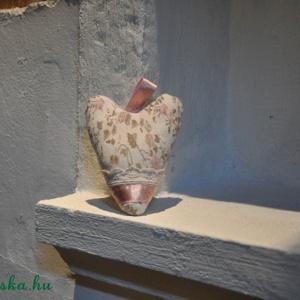 Romantikus, virágos, levendulás szív illatos disz (Blackata) - Meska.hu