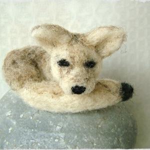 Fennec Fox / Sivatagi róka, Gyerek & játék, Otthon & lakás, Dekoráció, Nemezelés, Tudtátok, hogy a Kis Herceg rókája egy sivatagi róka azaz Fennec fox? Akárcsak ez az apró felfedező...., Meska