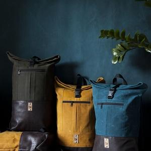 DRAKE hátizsák (választható színek), Táska, Divat & Szépség, Táska, Hátizsák, Varrás, Viaszolt vászon anyaból készült hátizsák, ami, azon kívül, hogy erősebbé és ellenállóbbá teszi a tás..., Meska