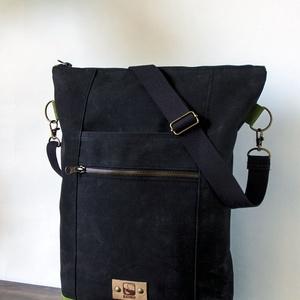 MORGAN válltáska , Táska & Tok, Kézitáska & válltáska, Vállon átvethető táska, Varrás, Viaszolt vászon anyagból készült válltáska, mely kétféle méretben és többféle színben elérhető. Ez a..., Meska