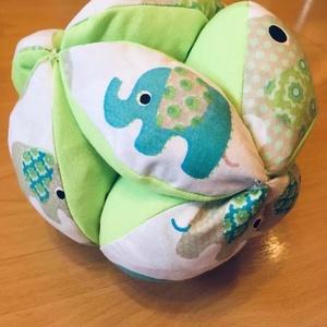 """Montessori ihlette labda, Babalabda, 3 éves kor alattiaknak, Játék & Gyerek, Varrás, A montessori ihlette labda 12 \""""foganytúból\"""" álló színes babajáték. A babák motorikus képességének fe..., Meska"""