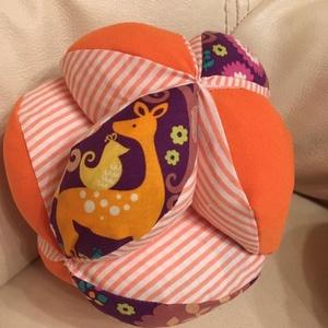 """Csörgős montessori ihlette labda, Játék & Gyerek, Készségfejlesztő & Logikai játék, Varrás, A montessori ihlette labda 12 \""""foganytúból\"""" álló színes babajáték. A babák motorikus képességének fe..., Meska"""