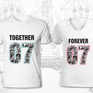 Together Forever, Esküvő, Nászajándék, Táska, Divat & Szépség, Női ruha, Ruha, divat, Szerelmeseknek, Ünnepi dekoráció, Dekoráció, Otthon & lakás, Fotó, grafika, rajz, illusztráció, Egyedi, személyre szabott minta!\nA számpár, ami szabadon megadható (itt pl. 07), jelentheti összejöv..., Meska