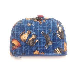 Kék macska pénztárca (Blaur) - Meska.hu