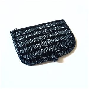 Fekete hangjegyes pénztárca, Táska, Divat & Szépség, Táska, Pénztárca, tok, tárca, Varrás, A termék megnevezése: pénztárca.\n\nZsűrizett termék! \n \nSzínei:\n- fekete\n- szürke\n\nMérete:\nösszehajtv..., Meska