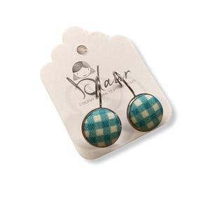Türkiz színes pöttyös franciakapcsos acél alapú gombfülbevaló, Ékszer, Fülbevaló, Lógós fülbevaló, A termék megnevezése: Gomb fülbevaló.    Színei:   Mérete: a gomb átmérője 1,2cm  Acél fülbevaló ala..., Meska