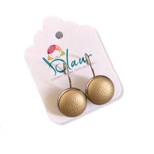 Arany színű franciakapcsos acél alapú gombfülbevaló, Ékszer, Fülbevaló, Lógós fülbevaló, A termék megnevezése: Gomb fülbevaló.    Színei:   Mérete: a gomb átmérője 1,2cm  Acél fülbevaló ala..., Meska