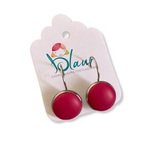 Pink színű franciakapcsos acél alapú gombfülbevaló, Ékszer, Fülbevaló, Lógós fülbevaló, A termék megnevezése: Gomb fülbevaló.    Színei:   Mérete: a gomb átmérője 1,2cm  Acél fülbevaló ala..., Meska
